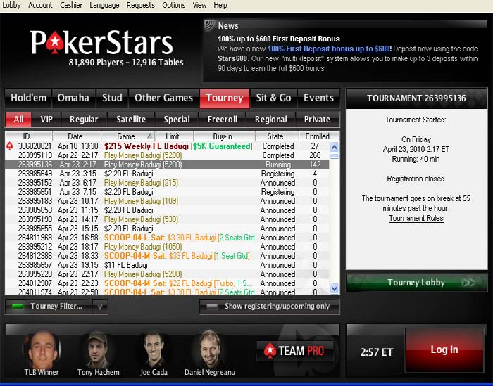 Lobby and just below of that find – How to Navigate Poker Stars Lobby?