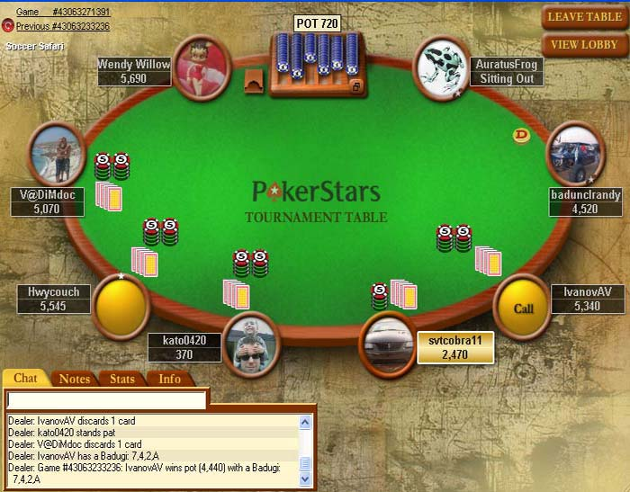 Table and just below of that find – How to Navigate Poker Stars Table?